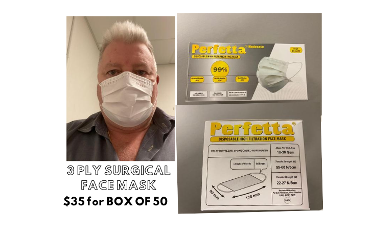 High Filtration Disposable Surgical Face Mask 3 Ply