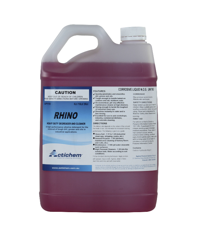 Actichem Rhino Heavy Duty Degreaser And Cleaner