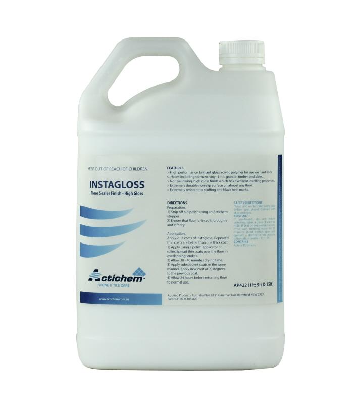 Actichem instashine floor sealer finish high gloss for Best vinyl floor sealer