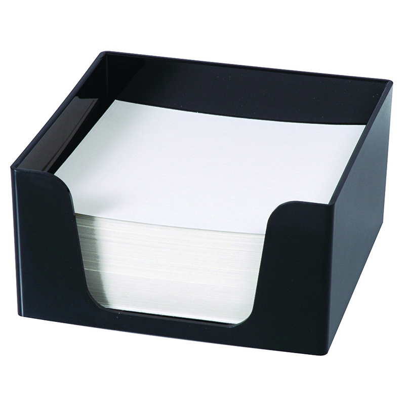 Esselte Sws Plastic Memo Cube with 500 Sheets Black