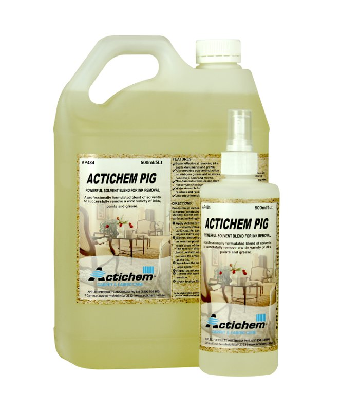 Actichem Pig Paint Ink And Grease Remover For Carpets