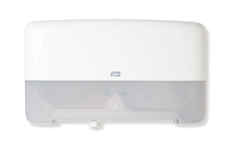Tork Dispenser Toilet Paper Mini Jumbo Roll Twin White T2