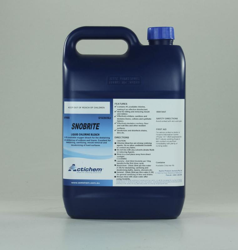 Actichem Snobrite Liquid Chlorine Bleach