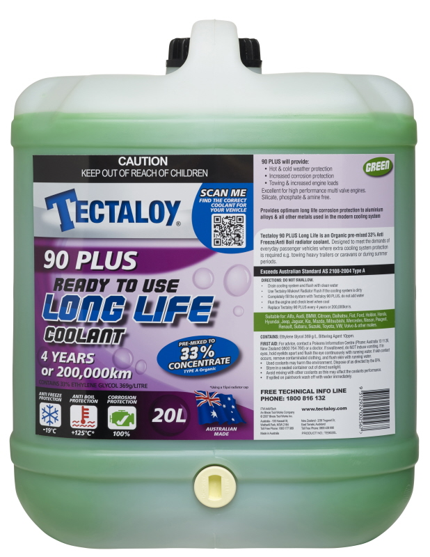 tectaloy   green long life coolant concentrate