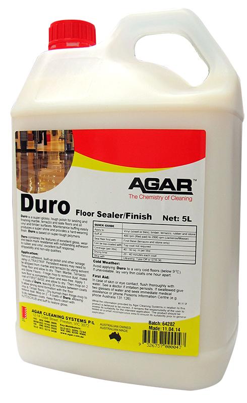Agar duro floor sealer finish for Best vinyl floor sealer