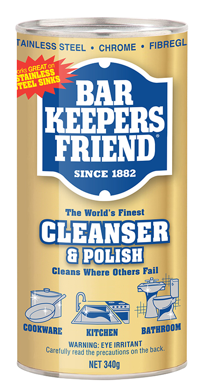 I use non-stick spray in my pans and have used Beekeepers Friend for years to remove the residue. It's gentle, but excellent for stainless steel. It cleans the bathroom sink, leaving behind a beautiful shine/5(92).