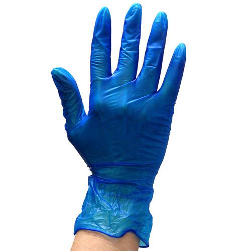 Blue Vinyl Gloves Powder Free