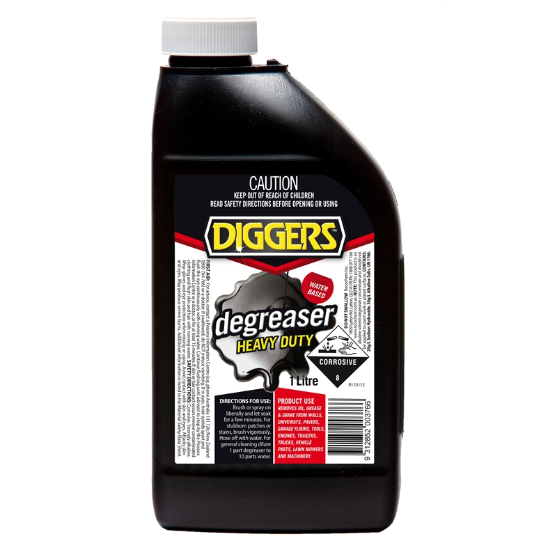 Diggers heavy duty degreaser water based for Garage floor cleaner degreaser