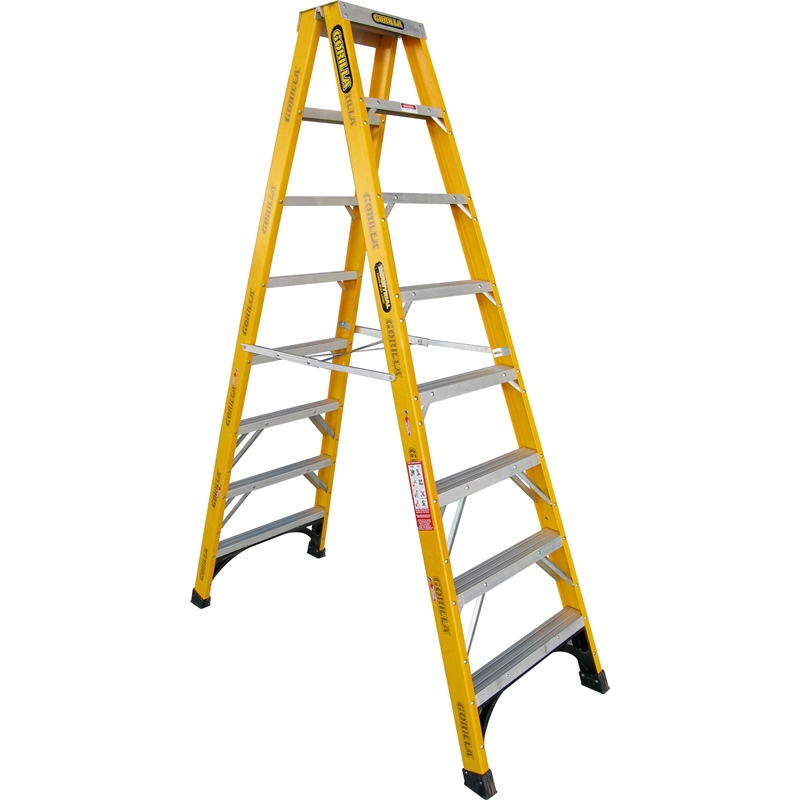 ... Choose A Size 2.4m / 8ft - GRFSM008-I ...  sc 1 st  Cleaners Supermarket & Fibreglass Double Sided A-frame Step Ladder 150kg Industrial islam-shia.org