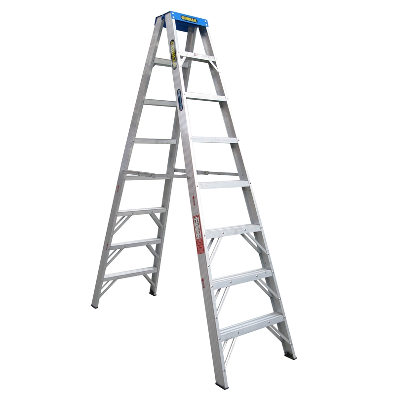 Aluminium Double Sided A Frame Step Ladder 150kg Industrial