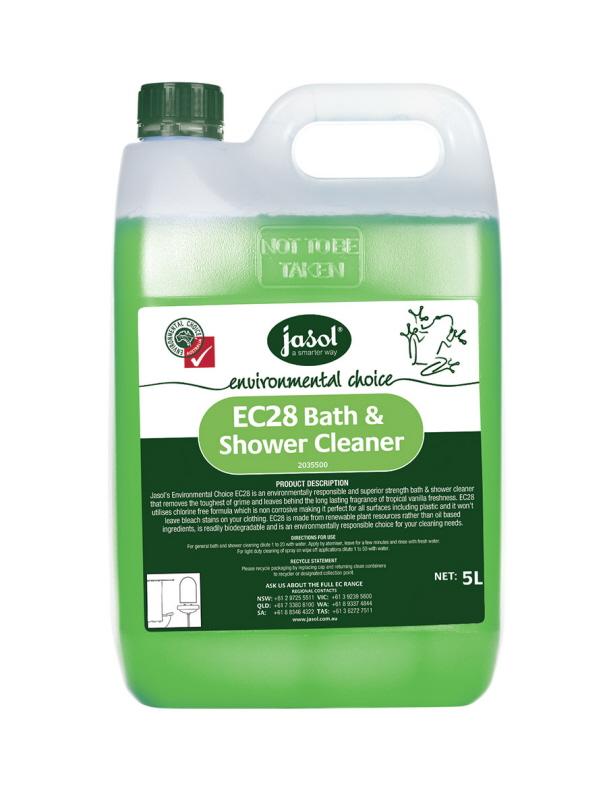 Jasol Ec28 Bath And Shower Cleaner 5l Environmental Choice