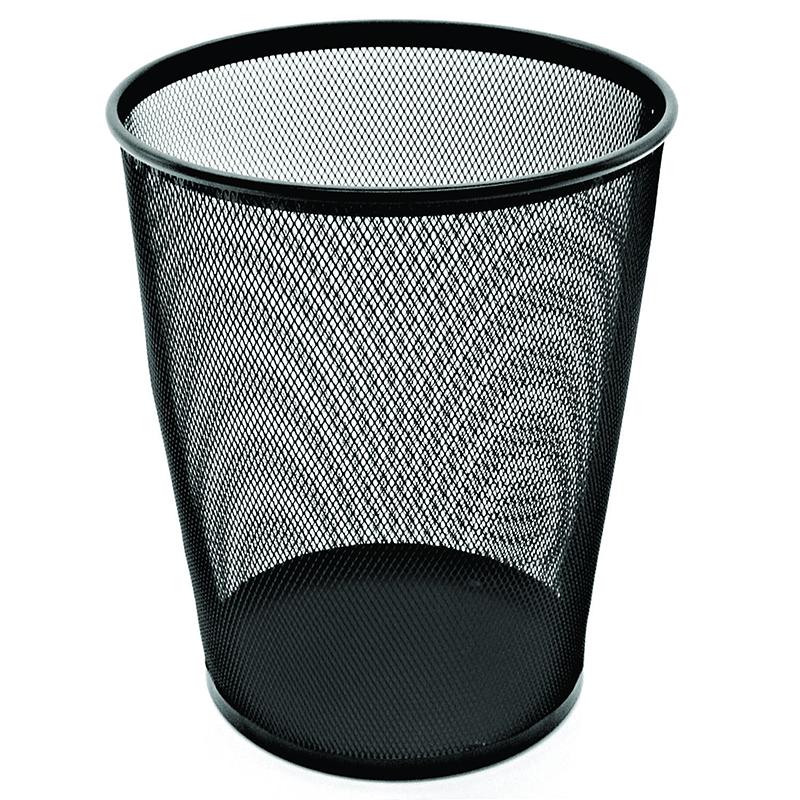 Esselte Metal Mesh Waste Bin 19l Black Ar47555