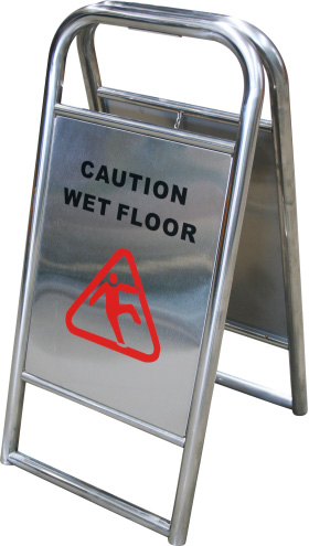 Stainless Steel A Frame Wet Floor Sign