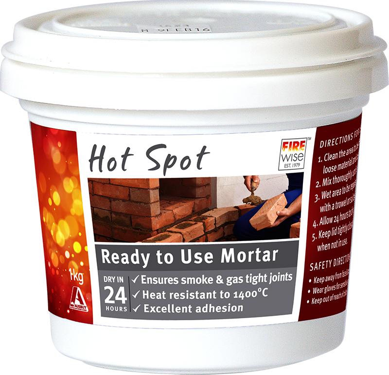 Fire Mortar Mix : Hot spot ready to use mortar fireplace repairer