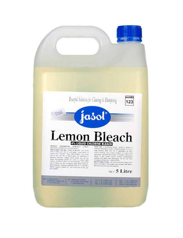 Jasol Lemon Bleach 4 Liquid Chlorine Bleach