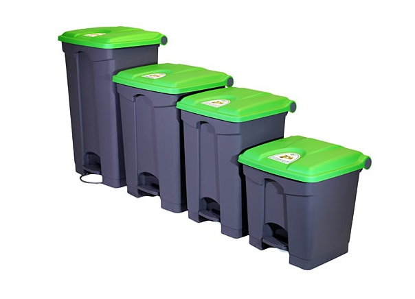 Pedal Bins Hands Free Waste Disposal Containers 45l