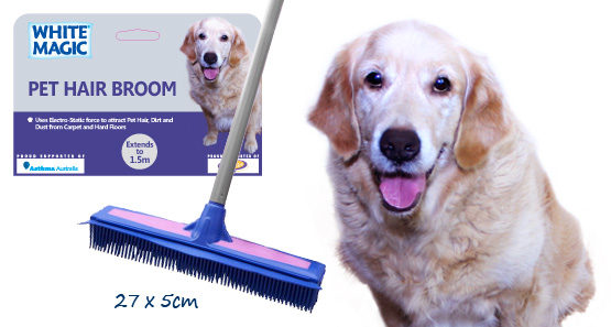 White Magic Pet Hair Broom