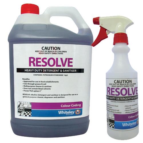 Resolve Heavy Duty Detergent And Sanitiser 5l