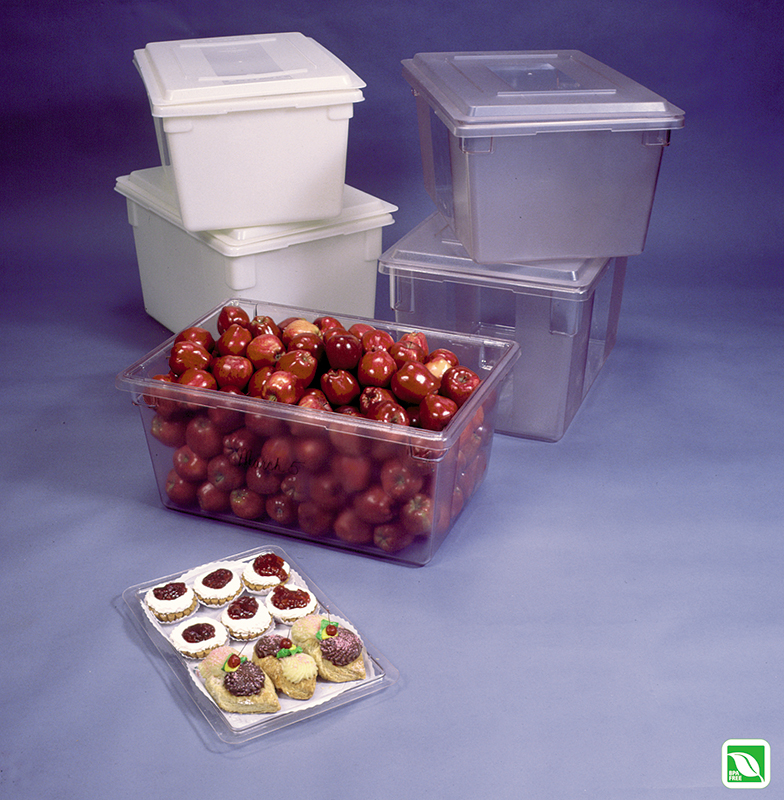 rubbermaid carb x food tote box clear and white. Black Bedroom Furniture Sets. Home Design Ideas