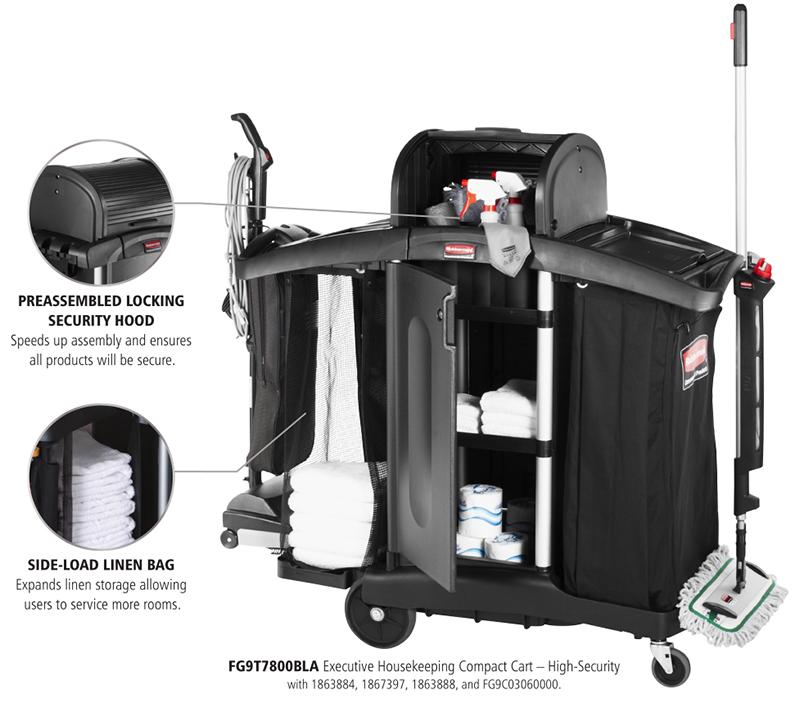 Rubbermaid Executive Housekeeping Compact Cart High