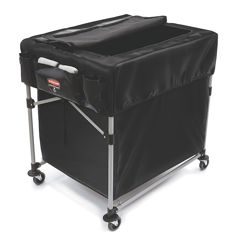 Rubbermaid Executive Black Collapsible X Carts