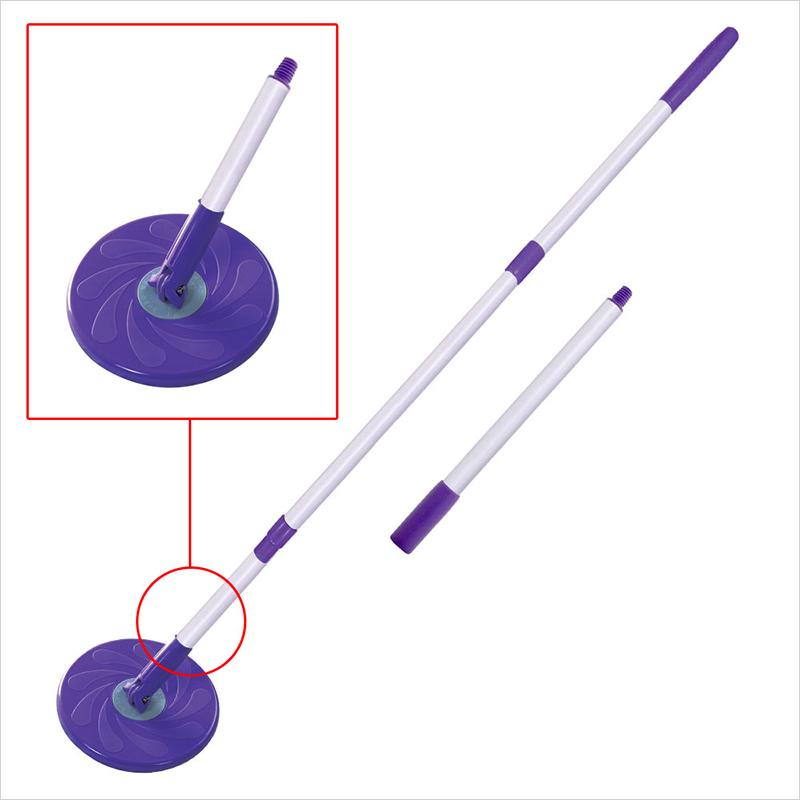 White Magic Microfibre Spin Mop Foot Press