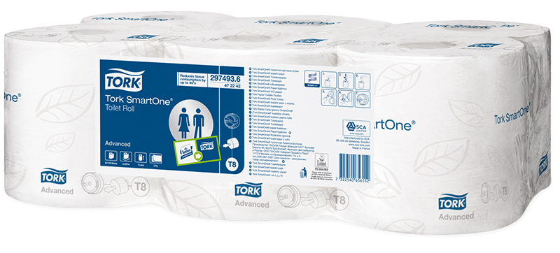 Tork Smartone T8 Toilet Roll 2 Ply Pack Of 6 Jh472242