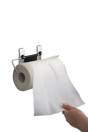 how to properly use a paper towel holder